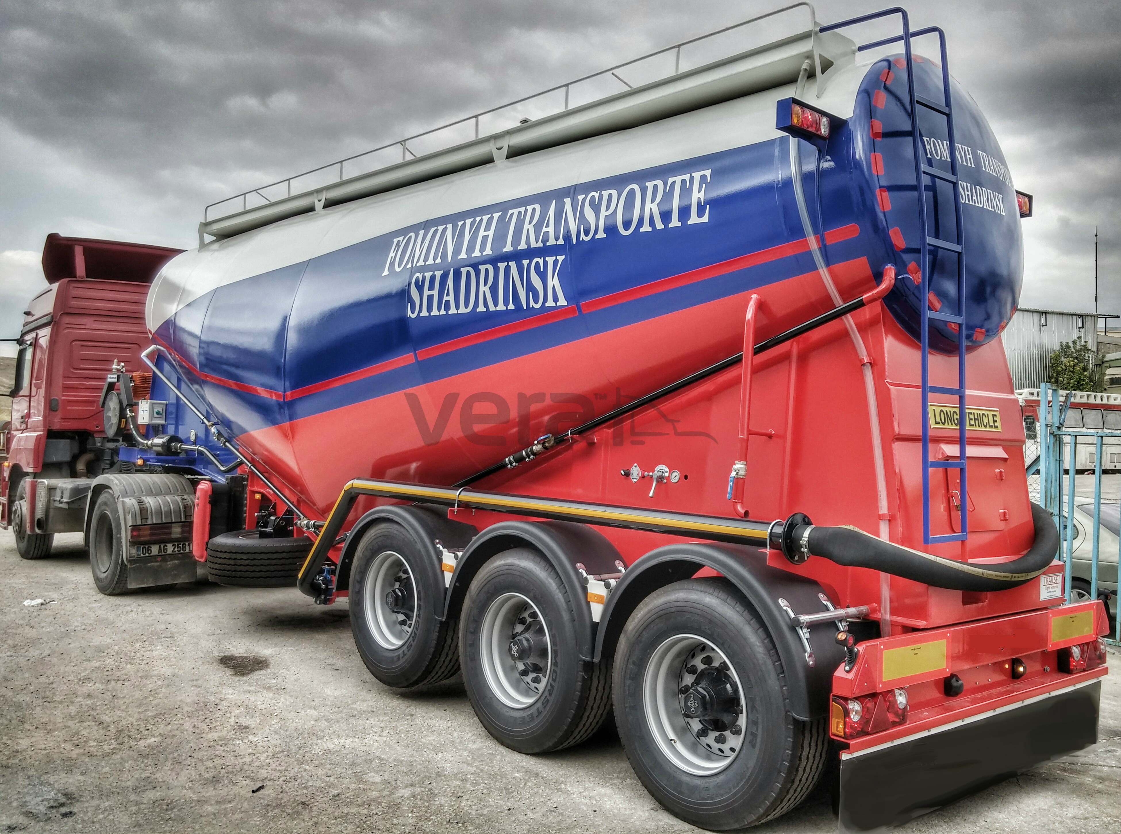 Type V Cement : Cement bulker silo trailer tanker trailers lowbed low